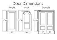 What are the typical exterior door dimensions? - Quora