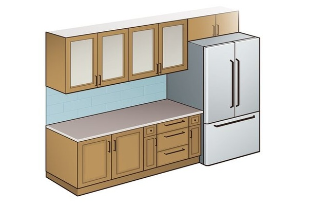 kitchen counter staining cabinets what is a standard depth quora the countertop overhang plays couple of roles and affects