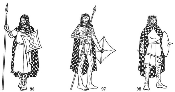 What did Pictish soldiers look like during the Dark Ages
