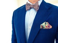 What colored bow tie should I wear with a royal blue ...
