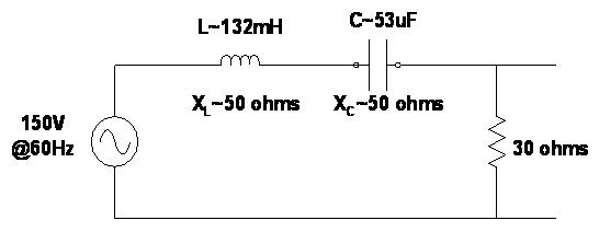 Can the voltage drop across the inductor or capacitor in a