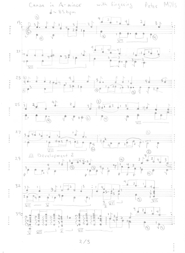 What is the best way of converting piano sheet to guitar