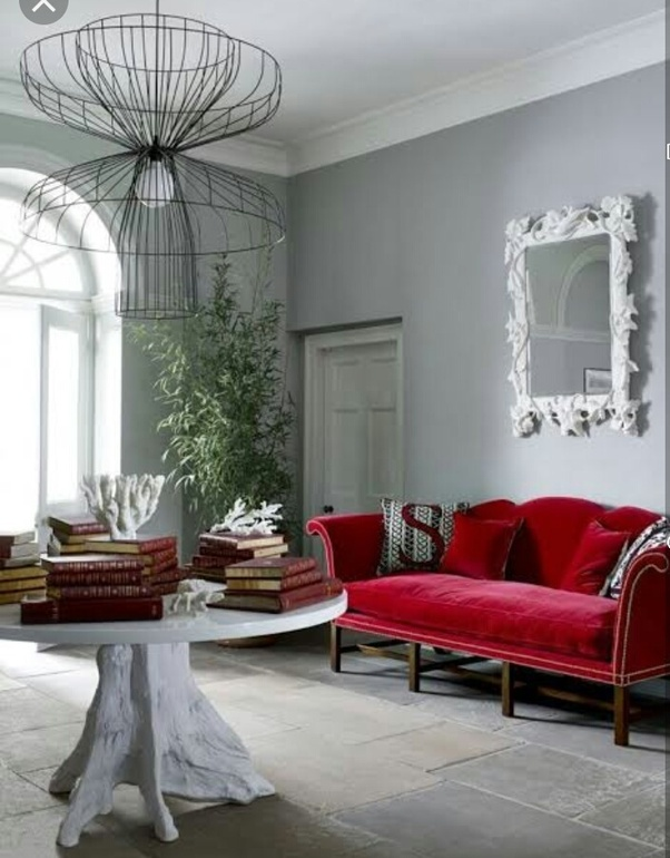 red couch in living room grey sofas what wall color goes well with a leather quora background yellowish green and also witha turquoise blue here are some of the images fom google
