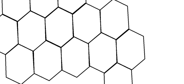 What is the importance of the hexagonal shape in nature