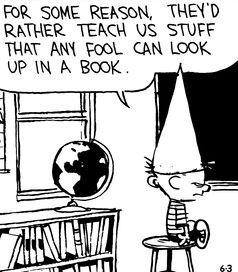 What are the best one-liners from Calvin and Hobbes to be