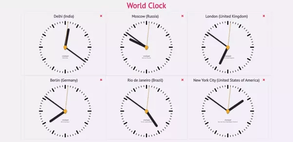 How to have 2 clocks for 2 different time zones on the