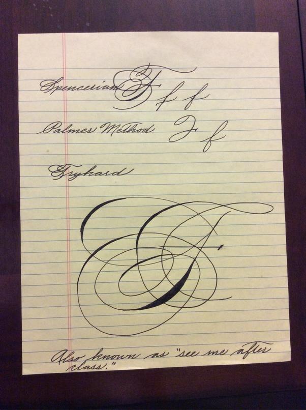 Capital F Calligraphy : capital, calligraphy, What's, Write, Cursive?, Quora