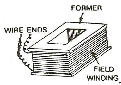 What are the main parts of a DC generator and their