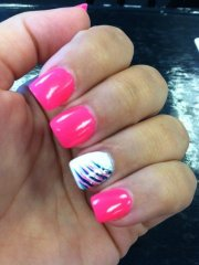 pink & white nails