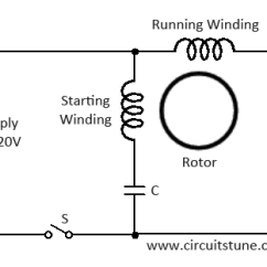 Single Phase Motor Wiring Diagram With Capacitor Start Inside Long Bone Pull Chain Switch