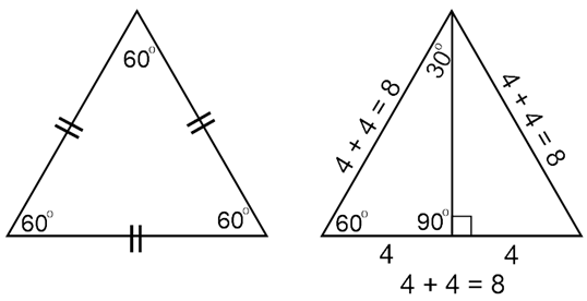The shorter leg of a 30°-60°-90° triangle is 4. How long