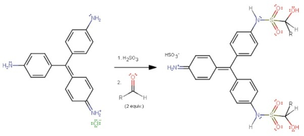 What is the chemical test to distinguish between butanal