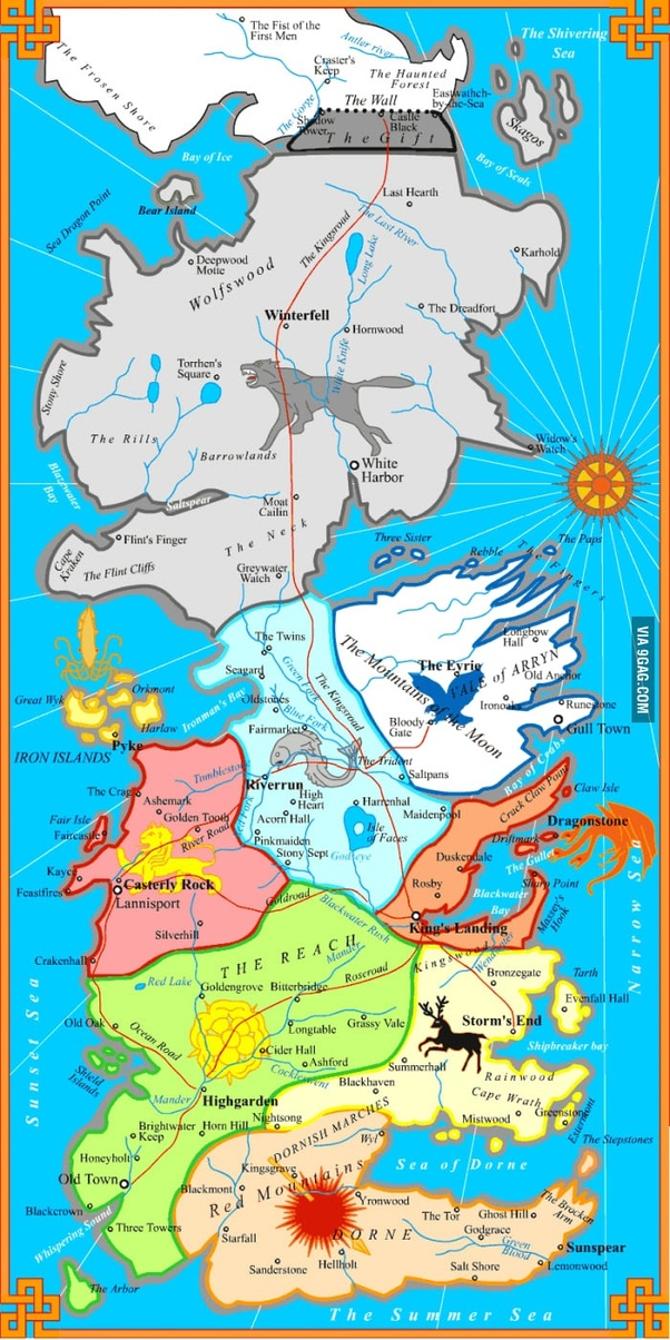 Game Of Thrones Houses Map : thrones, houses, Where, Political, Westeros?, Quora