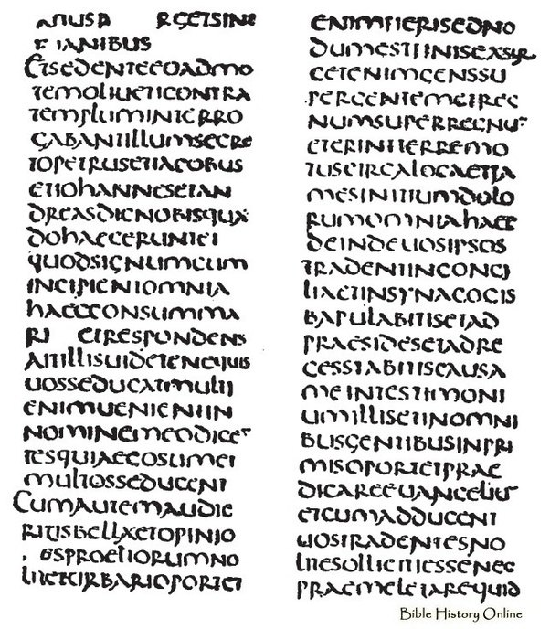 How has the Latin alphabet changed from 2,000 years ago in