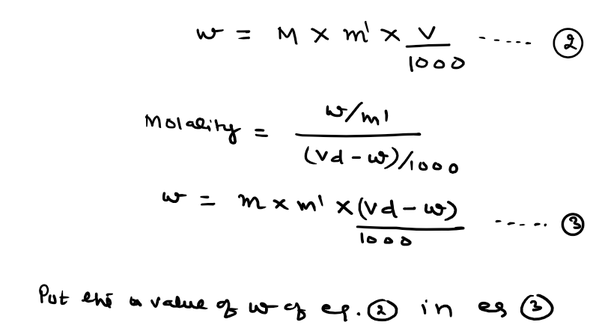 What is the relation between molarity, molality and