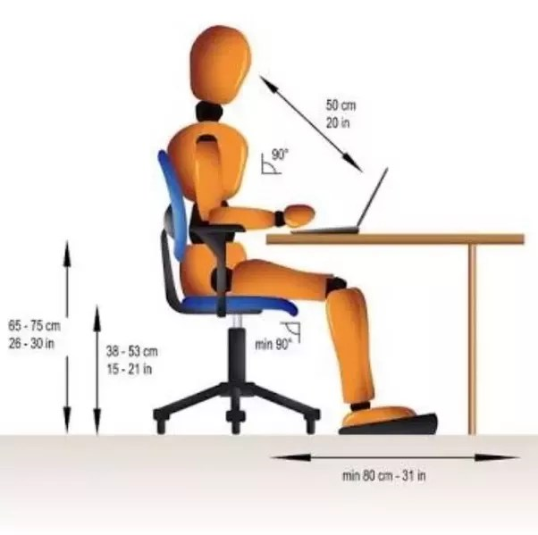 office chair height mid century modern and ottoman what is the standard quora 14 21 inches when u use a 120 mm hydraulic