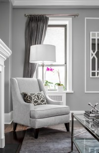 What color of curtains would go well with a gray