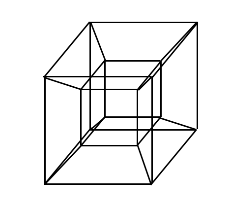 How many three-dimensional cubes are there in a tesseract