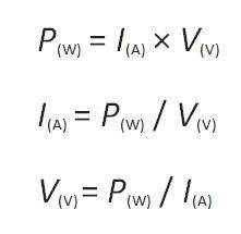 Voltage Ampere Formula