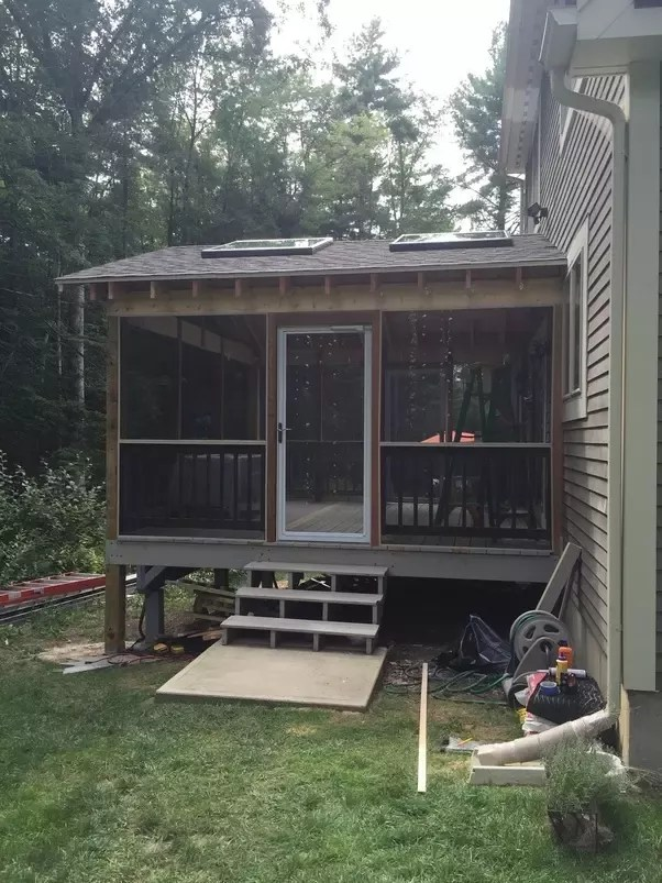 a roof over a deck from scratch