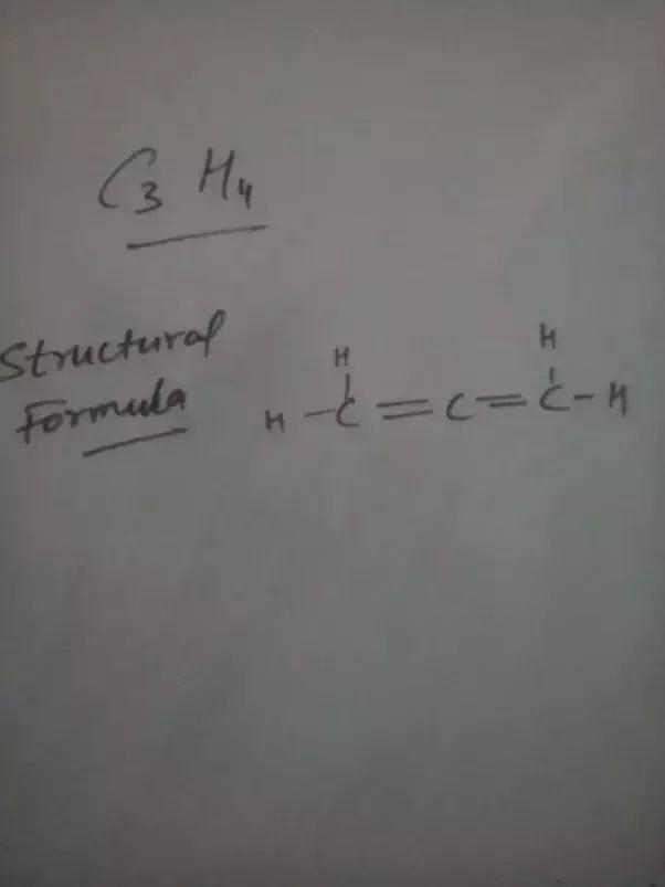 C3h4 : Different, Compounds, Formula, C3H4?, Quora