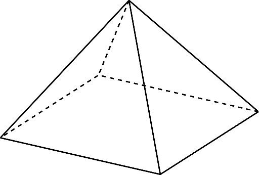 How many edges, faces, and vertices does a rectangular