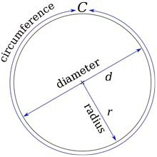 If the diameter of a circle is 5 feet, what is the