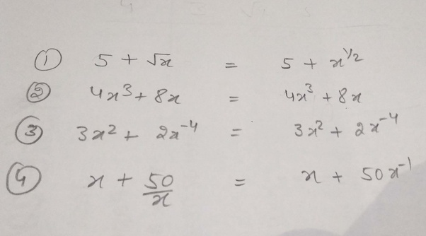 Which one of the following is a polynomial and why? (1) 5