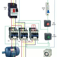 Three Phase Motor Star Delta Wiring Diagram Thermostat 5 Wire What Is The Proper Connection Quora Starter Of