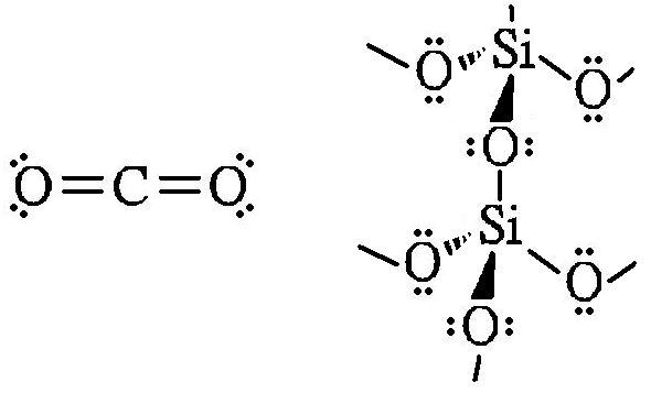 Why do carbon dioxide and silicon dioxide have totally