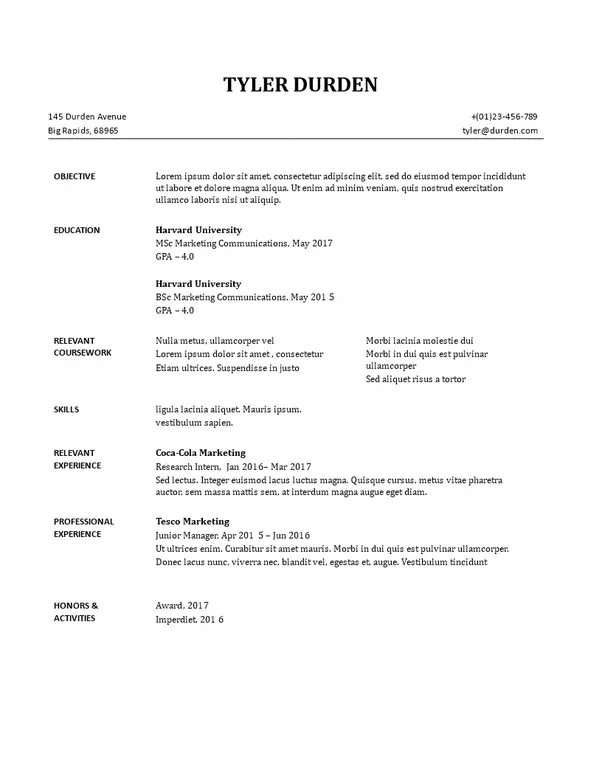 Are there any free resume templates? - Quora