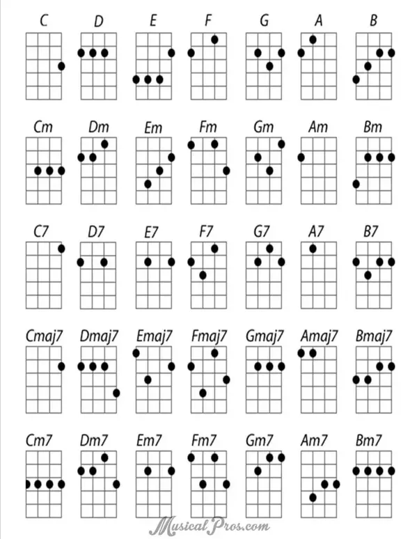 Can someone transpose these chords from a guitar to a