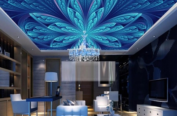 P O P Fall Ceiling Wallpaper What Are Some Types Of False Ceiling Quora