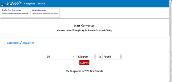 How to convert 95 kilograms to pounds - Quora