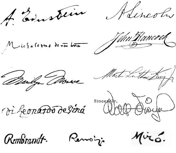 What Elements Would Make A Signature Difficult To Forge?  Quora