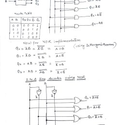 figure below shows 2 to 4 line using basic gates and then using nor gates only [ 1014 x 1436 Pixel ]