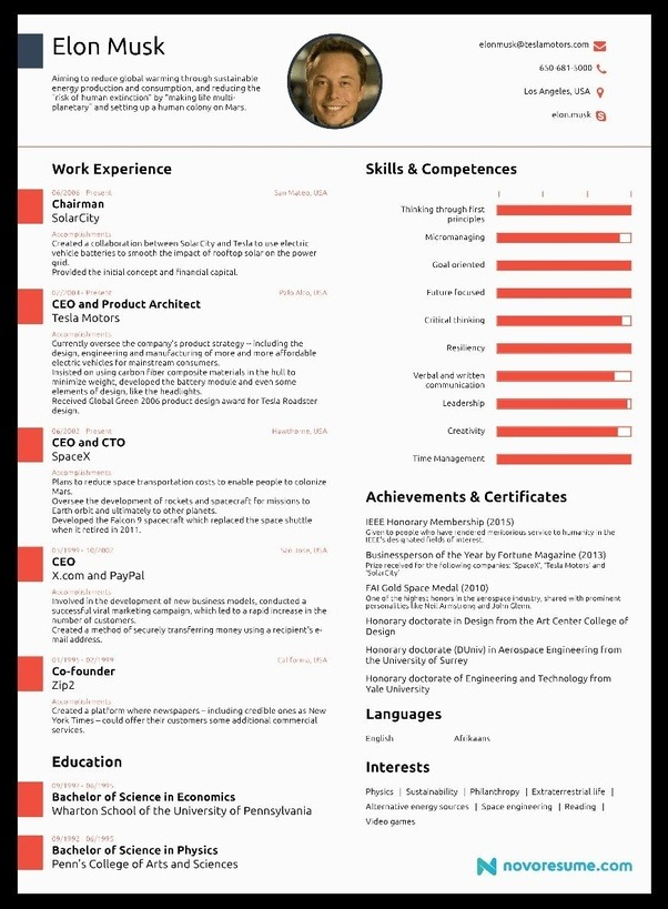 What Should A Fresher's Resume CV Look Like? Quora