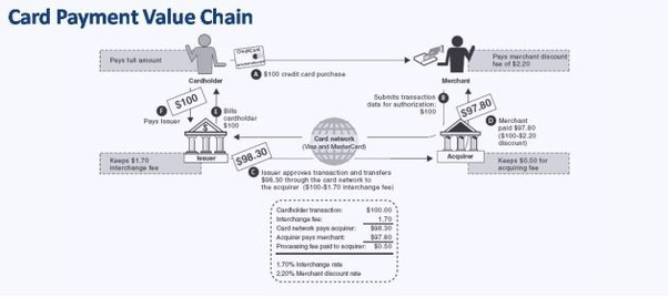 What is the industry value chain for VISA (credit card