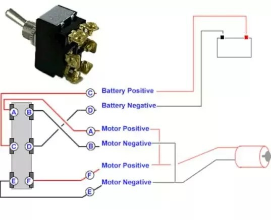 6 pin switch wiring diagram 2008 nissan 350z radio how to wire a toggle quora if you want connect two dc motor only change the common polarity connection into part and make seperately