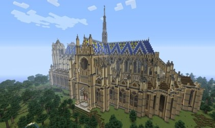 minecraft amazing builds build cathedral cool stuff amiens building lady keep designs library massive
