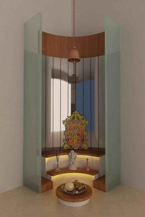 pooja interior designs corner area