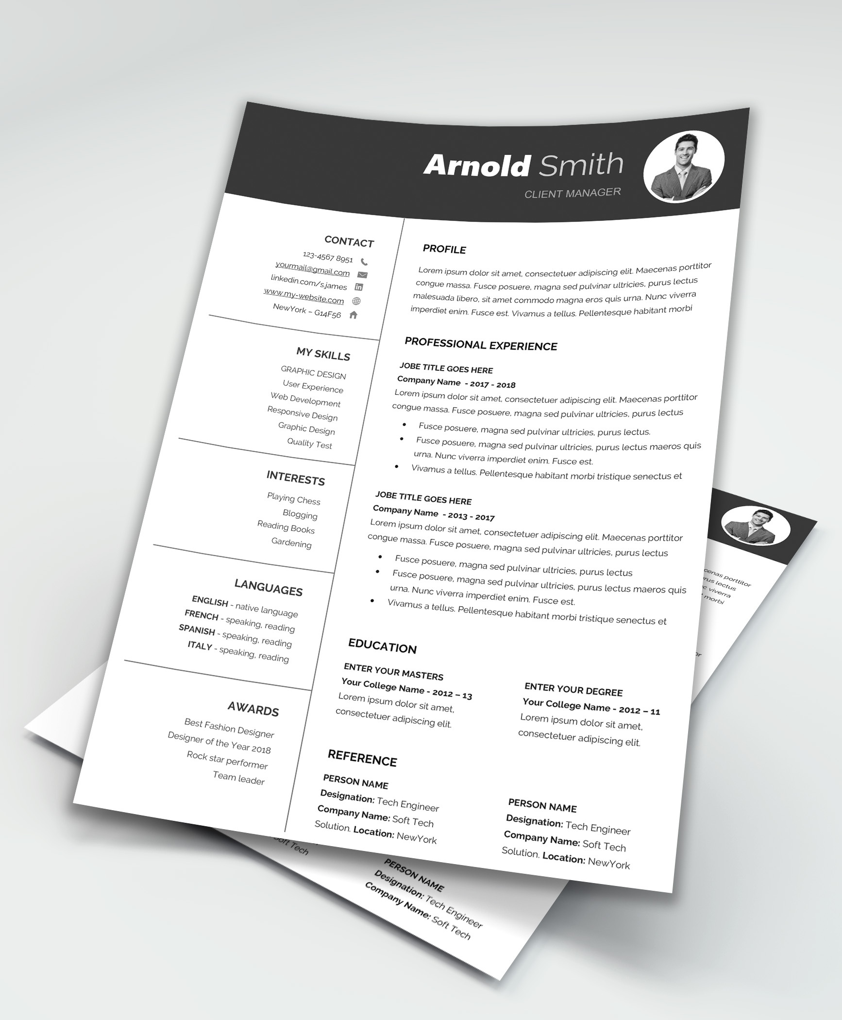 Free Resume Word Template Do You Know Any Professional Sophisticated Resume Templates For