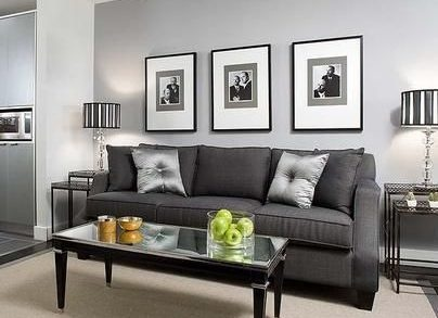 what color wall goes with a gray couch