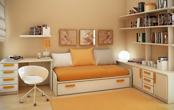 How To Decorate And Put Things In A Small Bedroom Cum Study Room To Look It Contemporary Quora