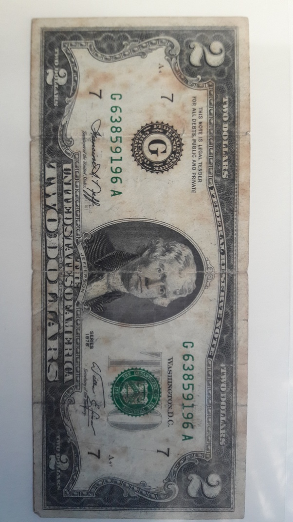 1976 2 Dollar Bills Worth : dollar, bills, worth, Worth?, Quora