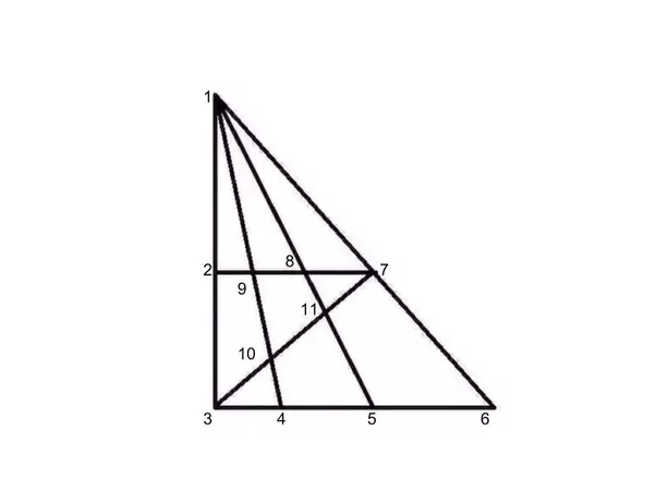 What are the number of triangles in the given complex