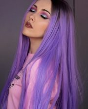 dye hair purple