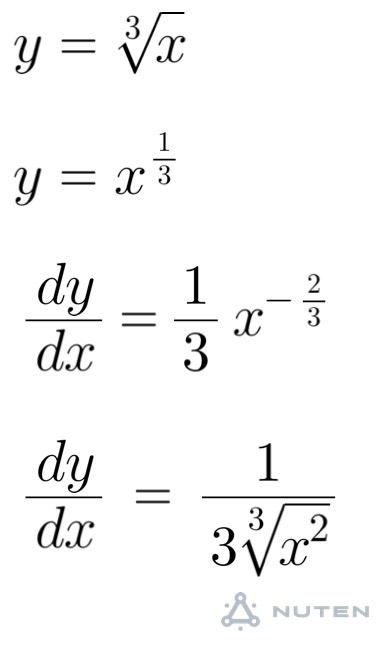 How to differentiate the cube root of x from the first