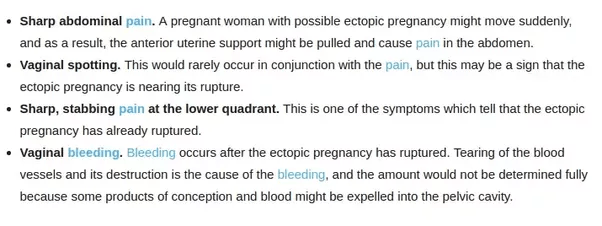 What is the nursing care plan for an ectopic pregnancy? - Quora
