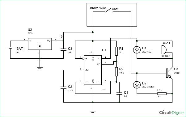 How to explain the brief circuit diagram of a break